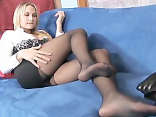 busty golden-haired mother i teases in sheer