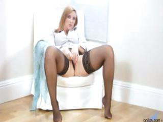 breasty office milf receives off when she is