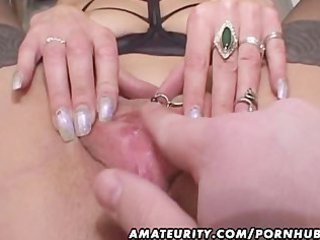 aged non-professional wife gives head with cum in