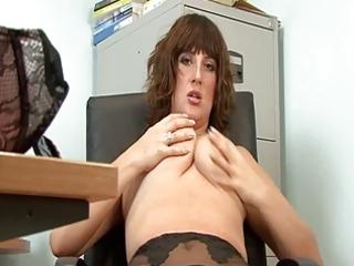 hot mature secretary full fashion nylons