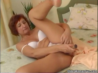granny copulates her shaved love tunnel and anal