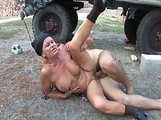 lascivious granny receives her moist hairless