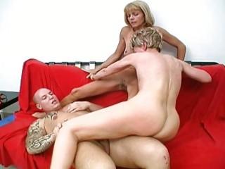 hawt granny sluts share one lucky penis