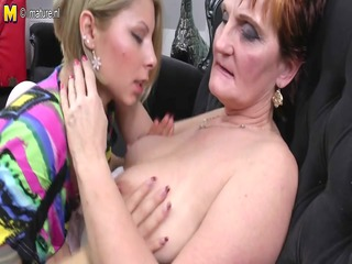 grandma teaching youthful beauty a lesbian love