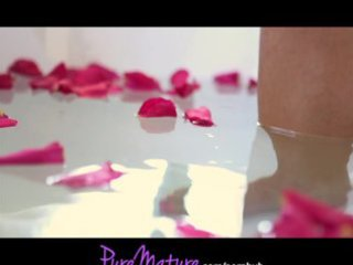 puremature french sexy mama enticed in rose petal