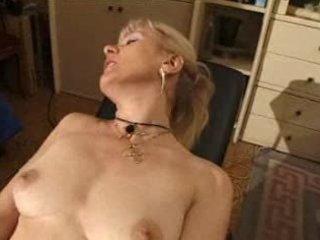 french shaved golden-haired granny pt11
