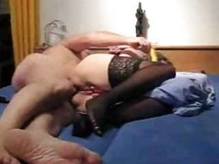 older amateur wife toys her ass and receives