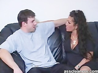 Willingly licking a horny mistress ass hole