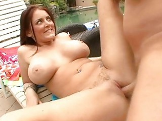 large titted d like to fuck doxy shags by the pool