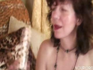 granny gal receives a gift from her juvenile hunk