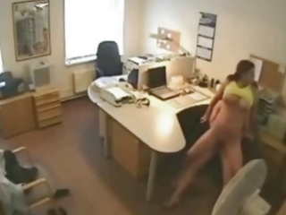 cheating wife fucking paramour at the office on