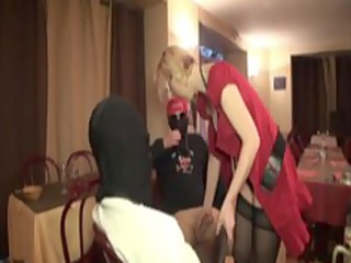 gangbanging christiana, a french older in nylons