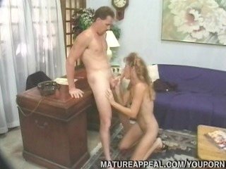 aged office playgirl drilled on desk