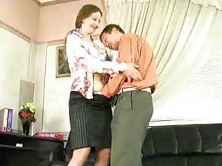 lewd older lady have sex in office