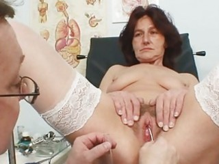 shaggy bawdy cleft grandma visits pervy woman