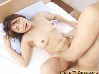 excited japanese mature sweethearts engulfing
