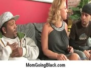horny milf gets drilled real hard in interracial