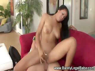 luscious swarthy girl with sexy body goes down on