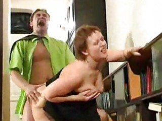 chunky aged housewife screwed by lewd guy