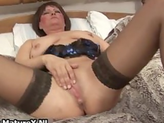 ribald old mom in hawt lingerie fucking part4
