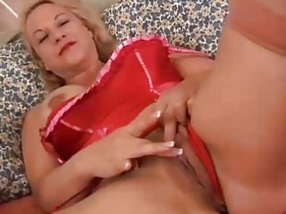 marvelous mature golden-haired is a squirter