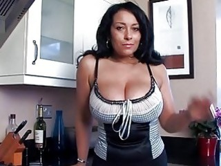 nasty breasty momma plays with fish lips in