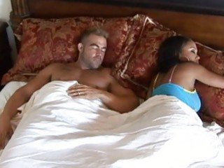 swarthy wife with big melons cheating husband and