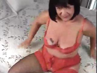 obese brunette hair mom receives screwed from