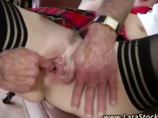 european honey in nylons has a three-some on real