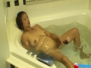 older asian has loud orgasm