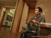 horny japanese older hotties engulfing