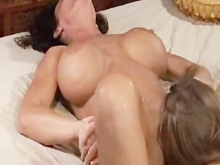 Mom squirts allk over her daughter many times