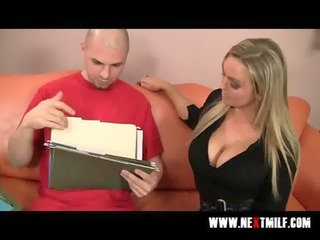 busty blond mother i tasting big meat pole