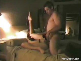 wife rotates a big dildo and a pleased dong