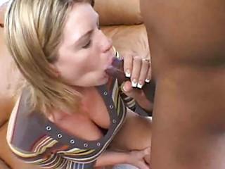slurping interracial oral-sex delights with