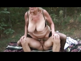 Hot granny fucking outdoor by troc
