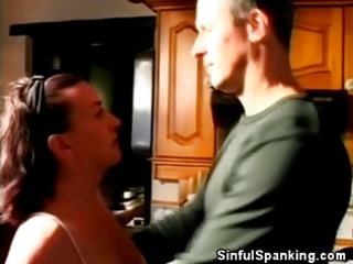 spanked aged chick