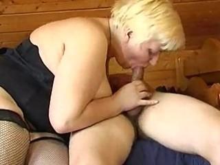 Russian boy fucking plumper mature