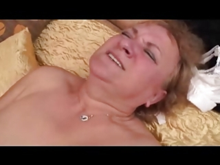 granny works a youthful cock