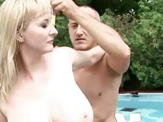breasty grandma enjoys hawt sex outdoor