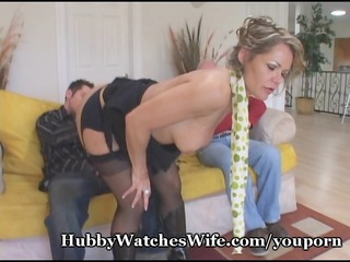 cougar babe seduces youthful stud