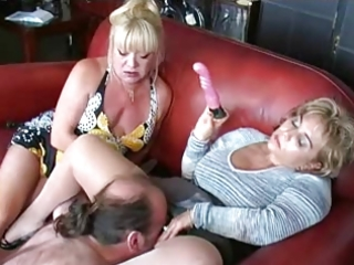two matures toy and dominate boy