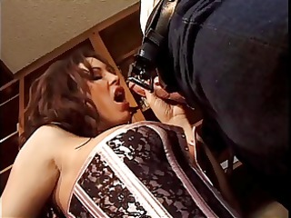 an office girl enticed by her boss