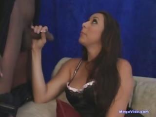 Cuckold wife fucks black dick