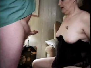 74 yo blond granny still eating pecker and