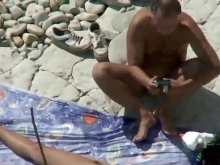 mama and daddy fuck on a public beach