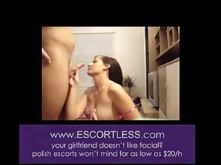 Amateur wife sucking cock and getting a facial
