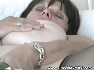 non-professional bbw mother i with her toy