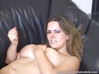 hot and sweet large titted jerk off instructor