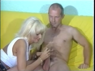 sandra gives aged boy astonishing cfnm handjob
